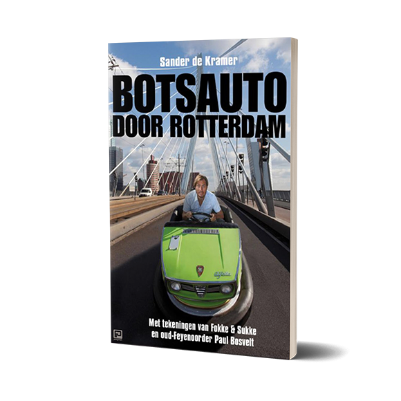 boek botsauto door rotterdam